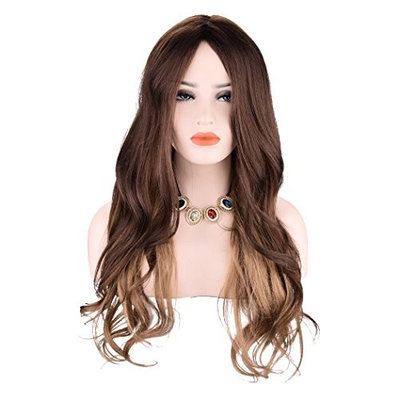 Miss Rola Ombre Color Long Curly Hair Wig Heat Resistant Synthetic Hair Wigs For Black Women Natural Wavy Realistic Looking Cheap Wigs Cosplay Wig Party Wig