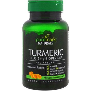 PureMark Naturals, Turmeric, 90 Vegetarian Capsules
