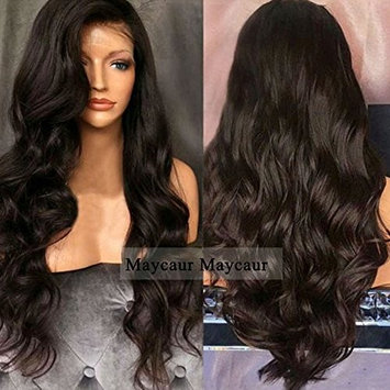 Maycaur Synthetic Hair Wig Products Long Curly With Baby Hair Synthetic Lace Front Wigs #4 Color Heat Resistant Fiber