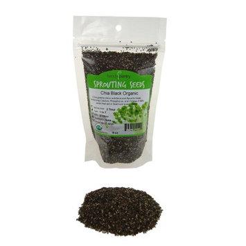 Handy Pantry Organic Chia Sprouting Seeds - Black Chia Superfood- 8 Oz