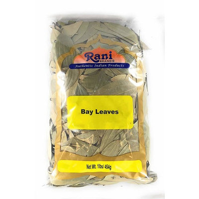 Rani Bay Whole Leaf (Leaves) Spice Hand Selected Extra Large 16oz (454g) 1lb Bulk Pack