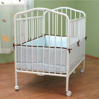 La Baby L.A. Baby Commercial Compact Folding Metal Crib