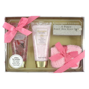 Swissco Kensington Studio Foot Spa 4-Piece Gift Set, Peony