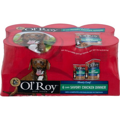 Wal-mart Stores, Inc. Ol' Roy Meaty Loaf Chopped Chicken Flavor in Meaty Juices Canned Dog Food, 13.2 oz, 6 count
