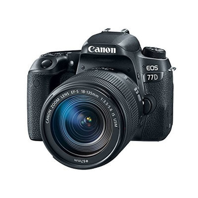 Canon EOS 77D 24.2 MP CMOS (APS-C) Digital SLR Camera with EF-S 18-135mm IS USM Lens