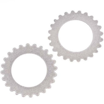 Beadaholique Antiqued Silver Plated Stamping Steampunk Open Gear Cog Wheel 25.5mm (2)