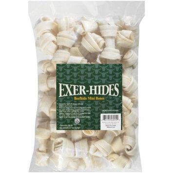 Salix Exer-hides Beefhide Mini Bones, 50 count