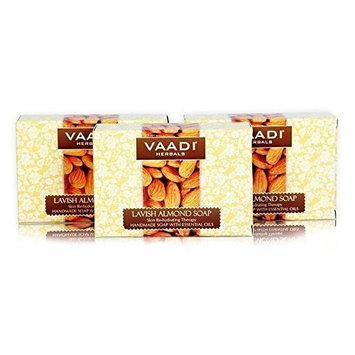 Vaadi Herbals Skin Rehydrating Lavish Almond Soap 3x75g by Vaadi Herbals Products