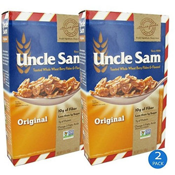 Uncle Sam Cereal, Original Whole Wheat Berry and Flaxseed, 13 Ounce (2 Pack)