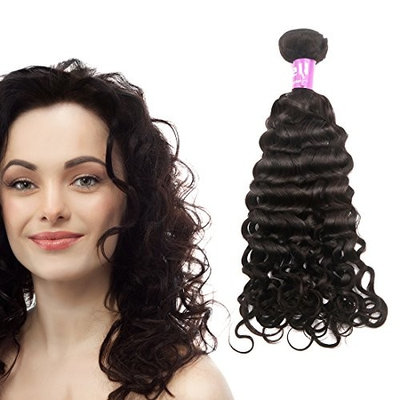 Uxcell Peruvian Unprocessed Virgin Italian Curly People Human Hair Extensions Wave, 12 Inch, 0.21 Pound [0.21 Pound]
