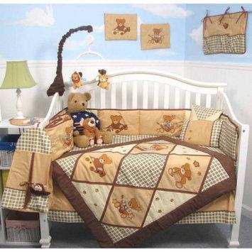Soho Classic American Teddy Bear Baby 14 Piece Crib Nursery Bedding Set