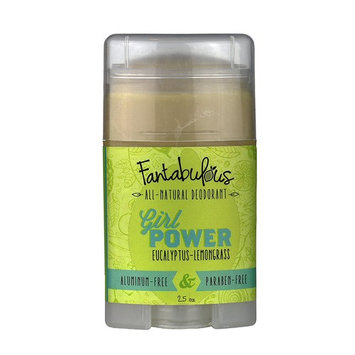 All Natural Deodorant - Scented w/ Patchouli and Orange Essential Oils - Girl Power by Fantabulous - Aluminum Free [Girl Power]