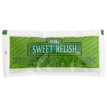 Heinz Sweet Relish, Single Serve, 0.31 oz. pack, Pack of 500