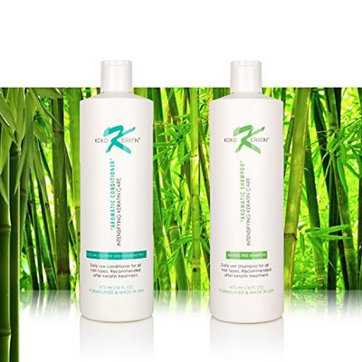 Aromatic Shampoo & Conditioner 16oz Therapeutic ,Sodium Chloride and Paraben Free For Daily Use. Recommended After Keratin Treatment (2 pack bundle)