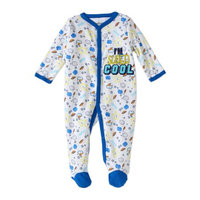 Quiltex Newborn Baby Boys' Cotton Coverall Sleep 'n Play