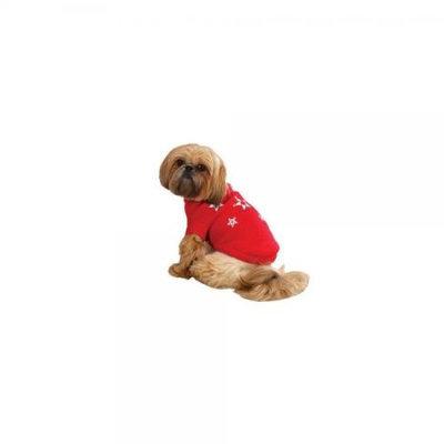 Zack & Zoey Twinkling Stars Dog Sweater in Red Size-See Chart Below: XXSmall