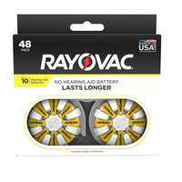 Rayovac Size 10 Hearing Aid Batteries, 48-Pack 10-48