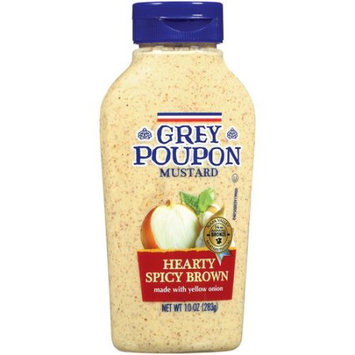 Kraft Foods Grocery Grey Poupon Hearty Spicy Brown Mustard, 10 oz