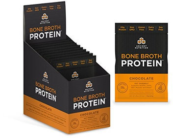 Ancient Nutrition Bone Broth Protein Powder - Chocolate - 15 Packets - Gut Friendly