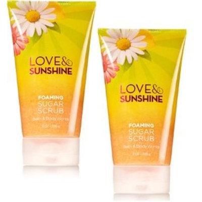 Bath and Body Works 2 Pack Love and Sunshine Foaming Sugar Scrub 8 Oz.