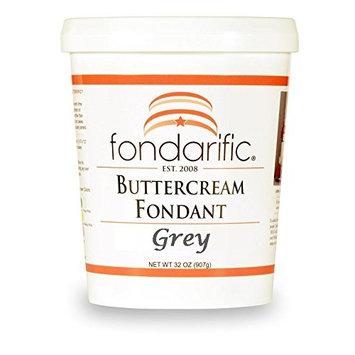 Fondarific Grey Fondant, Buttercream, 2.0 Pound