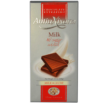 Antiu Xixoria No Sugar Added Milk Chocolate Bar, 4.4 oz