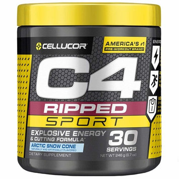Cellucor C4 Ripped Sport Pre Workout Powder + Thermogenic Fat Burner, Fat Burners for Men & Women, Weight Loss & Energy, Arctic Snow Cone, 30 Servings - NSF Certified for... [Arctic Snow Cone]