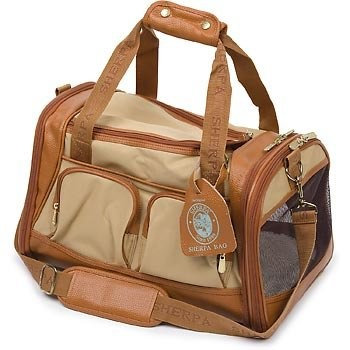 Sherpa Amelia Collection Sand with Tan Pet Carrier