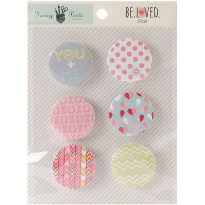 Notions Marketing Fancy Pants BEL2161 Beloved Flair Embellishments 6-Pkg