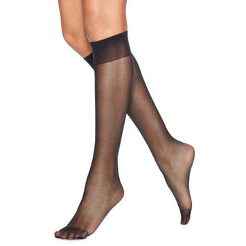 Silk Reflections Womens Knee High Reinforce Toe 2 Pack
