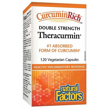 Natural Factors CurcuminRich Theracurmin Double Strength Turmeric 60 mg 120 Capsules