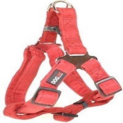 Dogline M8104-3 25-31 L x 1 W inch Comfort Microfiber Step-In Harness, Red