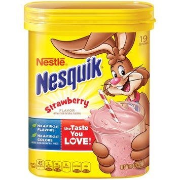 Nesquik Strawberry Powder Drink Mix, 10.9-ounce Canisters (pack Of 12)