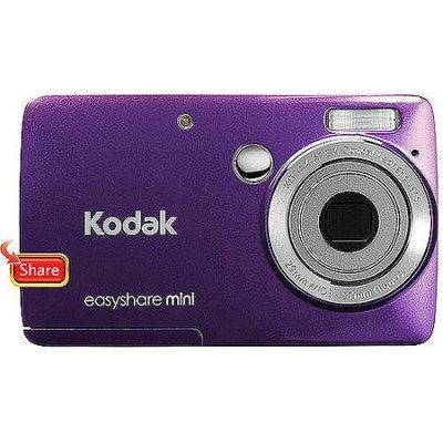Kodak EasyShare M200 10 Megapixel Compact Camera - Purple - 2.5 LCD - 3x Optical Zoom - Electronic (IS) - 640 x 480 Video