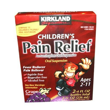 Kirkland Signature Children's Pain Relief Plus Multi-symptom Cold, 2-4 Fl Oz Bottles Toal 8 Fl Oz (236ml)