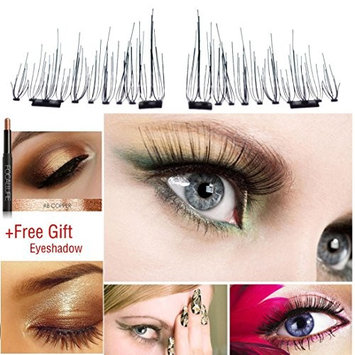 Magnetic EyeLashes,ZYooh 7mm Ultra-long Reusable 3D Mink False Magnetic Eyelashes Extension for Makeup