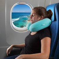 Trademark Global Llc Memory Foam Travel Pillow- With Gel That Cools for Head/Neck Support with Pillowcase for Sleeping, Traveling, Airplanes, Trains by Somerset Home