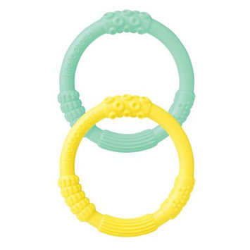 Silicone Teether Dual Pack Mint/Banana Lifefactory 2 Pack