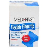 Medi-First® Flexible Fingertip Blue Metal Detectable Bandages 300 Ct