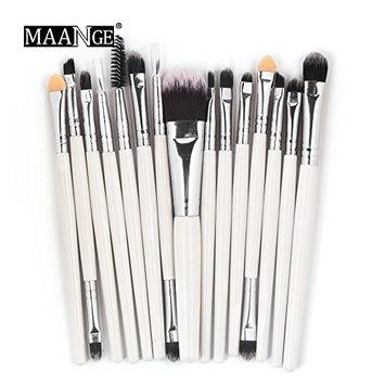 Baomabao 15pcs Cosmetic Makeup Brush Blusher Eye Shadow Brushes Set Kit