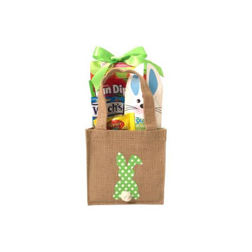 Gifts2gonow Burlap Bunny Easter Basket Green