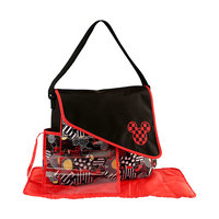 Baby Storage Disney Mickey Mouse Toss Heads Print Large Diaper Bag (3pc Set)