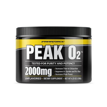 PrimaForce Peak O2 Powder Supplement, 120 Grams – Improves O2 Uptake & VO2 Max/Increases Time to Exhaustion/Enhances Peak Power