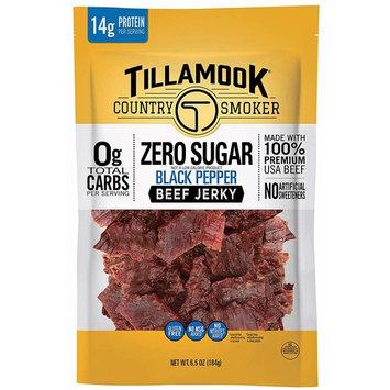 Tillamook Country Smoker Zero Sugar Black Pepper Keto Friendly Beef Jerky, 6.5 oz [Black Pepper Jerky]