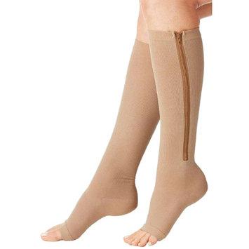 Compression Socks, Coxeer Stretch Skinny Compression Socks Toe Open Leg Support Stocking Knee High Socks for Women
