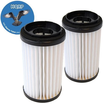 HQRP Washable HEPA Filters fits DCF-1 / DCF-2 Kenmore Commercial, Ultra Care, Dual Sweep Vacuum Cleaners + HQRP Coaster (Pack of 2)