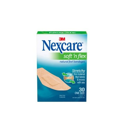 Nexcare Soft N Flex Natural Feel Bandages 2 Pack of 8