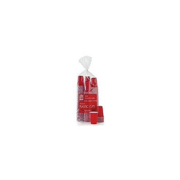 Bakers & Chefs Red Plastic Cups - 18 Oz./240 Ct.