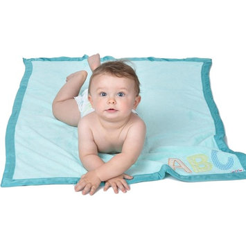 Eric Carle The Very Hungry Caterpillar Baby Plush Printed Blanket, Light Blue, 30