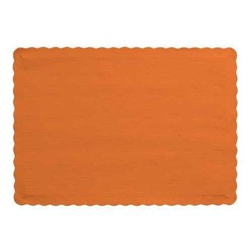Sunkissed Orange Paper Placemats 50 Per Pack
